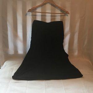 Dots Black Strapless Dress 2X NWT